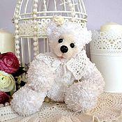 Куклы и игрушки ручной работы. Ярмарка Мастеров - ручная работа Мишка-девочка Снежинка. Handmade.