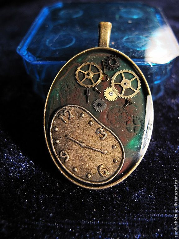 Pendant 'Escaping time' based on Salvador Dali, Pendants, St. Petersburg,  Фото №1