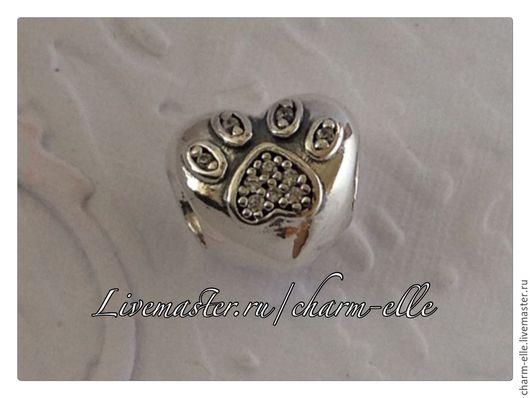 Для украшений ручной работы. Ярмарка Мастеров - ручная работа. Купить Шарм Любимый питомец из серебра 925 пробы Пандора стиль. Handmade.