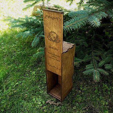 Свадебный салон ручной работы. Ярмарка Мастеров - ручная работа Ящик для бутылки (винная церемония). Handmade.