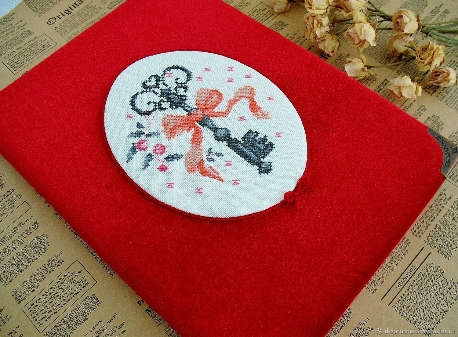 Album-book with hand embroidery ' Key', Photo albums, Ekaterinburg,  Фото №1