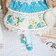 Куколка `Свежесть утра`, ручная работа, куклы и игрушки, куклы для интерьера, бирюзовый.