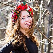 Украшения ручной работы. Ярмарка Мастеров - ручная работа Летний ободок на голову с цветами листьями, фруктами и ягодами. Handmade.