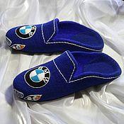 Обувь ручной работы. Ярмарка Мастеров - ручная работа BMW. Мужские валяные тапочки. Handmade.