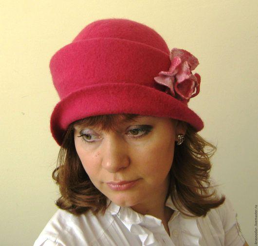 """Шляпы ручной работы. Ярмарка Мастеров - ручная работа. Купить шляпка """"Фуксия"""". Handmade. Шляпа валяная, купить шляпку"""