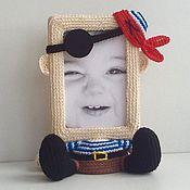 Работы для детей, ручной работы. Ярмарка Мастеров - ручная работа Фоторамка для мальчика Пират. Handmade.