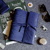 Ежедневники ручной работы. Ярмарка Мастеров - ручная работа Кожаный скетчбук MYSTERY с ремнем и сменными тетрадями А5 белые, крафт. Handmade.