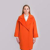 """Одежда ручной работы. Ярмарка Мастеров - ручная работа Пальто """"Влечение орандж""""  на осень оранжевое желтое. Handmade."""