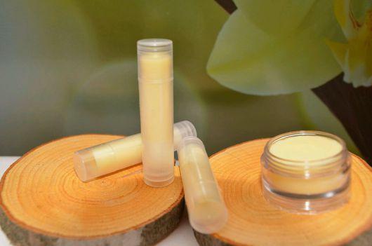 """Бальзам для губ ручной работы. Ярмарка Мастеров - ручная работа. Купить Бальзам для губ """"Белый шоколад и ваниль"""". Handmade. Бальзам"""