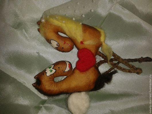 Магниты ручной работы. Ярмарка Мастеров - ручная работа. Купить Лошадь счастья. Handmade. Новый год 2014, лошадь-символ 2014