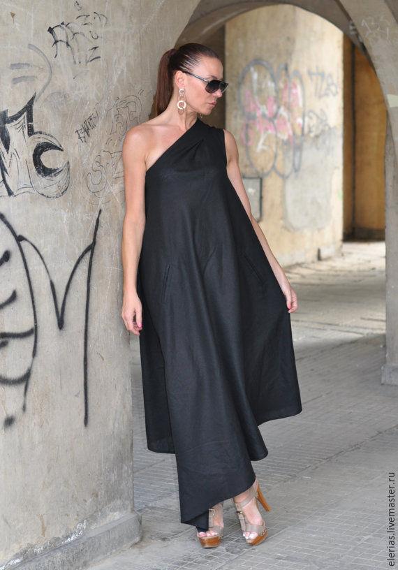 to buy a dress. Black dress from flax.Stylish dress.