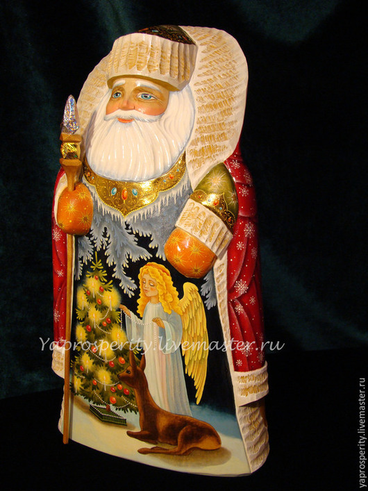 Сувениры ручной работы. Ярмарка Мастеров - ручная работа. Купить Дед Мороз. Handmade. Разноцветный, сувенир из дерева, резьба по дереву