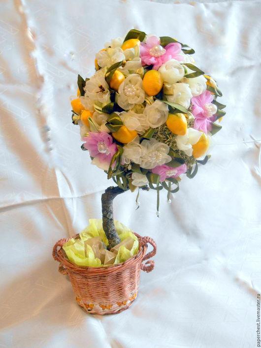 Персональные подарки ручной работы. Ярмарка Мастеров - ручная работа. Купить дерево счастья цветущий лимон. Handmade. Комбинированный