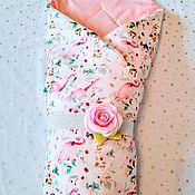 Конверты на выписку ручной работы. Ярмарка Мастеров - ручная работа Конверт-одеяло для выписки и прогулок для девочки. Handmade.