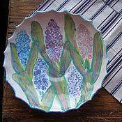 """Тарелки ручной работы. Ярмарка Мастеров - ручная работа Тарелка """"Гиацинты"""". Handmade."""