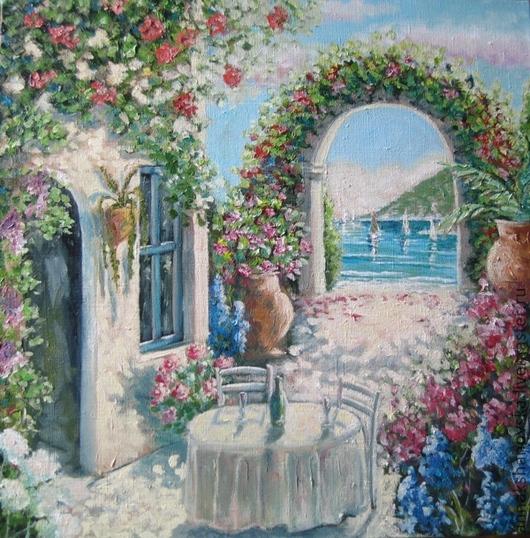 """Картины цветов ручной работы. Ярмарка Мастеров - ручная работа. Купить Картина """"Летняя"""". Handmade. Белый, натюрморт, картина, цветы"""