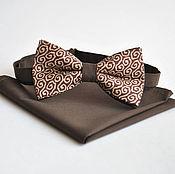 Аксессуары handmade. Livemaster - original item Brown tie grace plain brown shawl Pasha. Handmade.