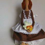 Куклы и игрушки ручной работы. Ярмарка Мастеров - ручная работа Текстильная кукла тильда  Школьница.. Handmade.