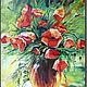 """Натюрморт ручной работы. Ярмарка Мастеров - ручная работа. Купить Картина """"Солнце и маки"""". Handmade. Картина маслом, цветы, радость"""