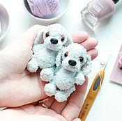 Куклы и игрушки ручной работы. Ярмарка Мастеров - ручная работа Голубой Щенок - вязаная игрушка амигуруми. Handmade.