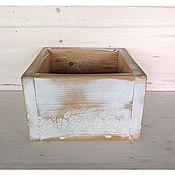 """Для дома и интерьера ручной работы. Ярмарка Мастеров - ручная работа Деревянный ящик/ коробка """"Белые цветы"""". Handmade."""
