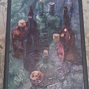 """Картины и панно ручной работы. Ярмарка Мастеров - ручная работа Картина """"7 бутылок"""". Handmade."""
