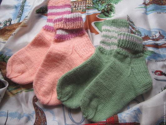 Носки, гольфы, гетры ручной работы. Ярмарка Мастеров - ручная работа. Купить Носочки детские большие. Handmade. Носки детские