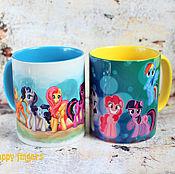 Посуда handmade. Livemaster - original item Mug My little pony My Little Pony Friendship is a miracle everypony. Handmade.