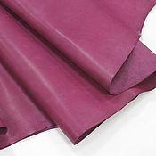 Материалы для творчества handmade. Livemaster - original item Leather: Crust 1,2-1,4 mm. Fuchsia. Genuine leather.. Handmade.