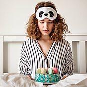 """Одежда ручной работы. Ярмарка Мастеров - ручная работа Маска для сна """"Панда"""". Handmade."""