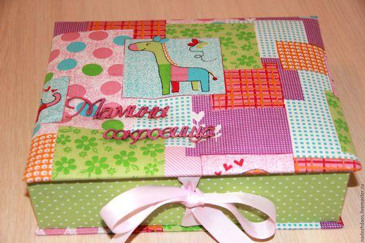 Подарки для новорожденных, ручной работы. Ярмарка Мастеров - ручная работа. Купить Шкатулка мамины сокровища. Handmade. Разноцветный