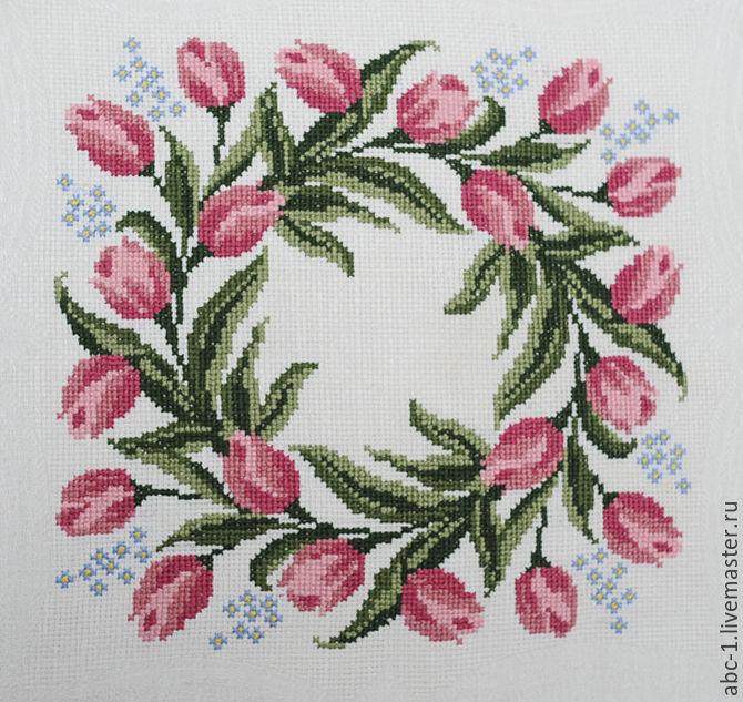 Салфетка вышивка крестиком фото