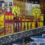 """Картина """"Ночной Амстердам"""" (оригинал или принт на холсте)"""