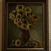 """Картины и панно ручной работы. Ярмарка Мастеров - ручная работа """"Подсолнухи"""". Handmade."""