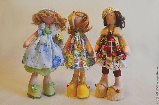 Человечки ручной работы. Ярмарка Мастеров - ручная работа. Купить Куклы из коллекции Времена года. Handmade. Авторская кукла, осень