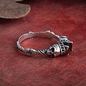 Украшения handmade. Livemaster - original item Ring with skulls. Ring SKULL. Gothic ring. silver grenades.. Handmade.