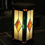 Для дома и интерьера ручной работы. Ярмарка Мастеров - ручная работа Витражный светильник. Handmade.