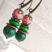 Украшения handmade. Livemaster - original item Earrings Malachite. Handmade.