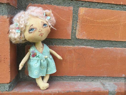 Человечки ручной работы. Ярмарка Мастеров - ручная работа. Купить Крошка Тиффани. Handmade. Тыквоголовка, интерьерная кукла, комбинированный, пастель