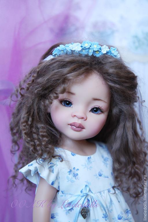 Коллекционные куклы ручной работы. Ярмарка Мастеров - ручная работа. Купить ООАК куклы Paola Reina. Handmade. Голубой, мохер