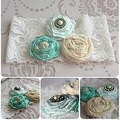 Свадебный салон ручной работы. Ярмарка Мастеров - ручная работа Мятная коллекция - подвязка невесты. Handmade.