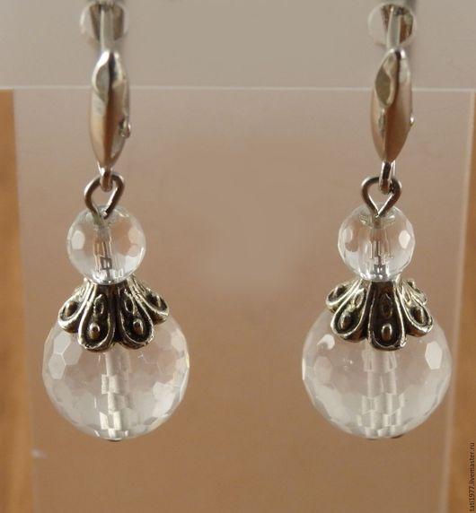 """Серьги ручной работы. Ярмарка Мастеров - ручная работа. Купить Серьги """"Прозрачные шары"""". Handmade. Белый, подарки для женщин"""