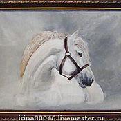 """Картины и панно ручной работы. Ярмарка Мастеров - ручная работа Картина """"Белая лошадь"""". Handmade."""