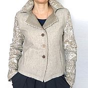 Одежда ручной работы. Ярмарка Мастеров - ручная работа Куртка Бежевая осень. Handmade.