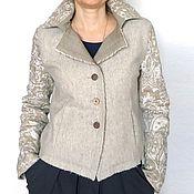 Одежда ручной работы. Ярмарка Мастеров - ручная работа Куртка Шерсть-Лен. Handmade.