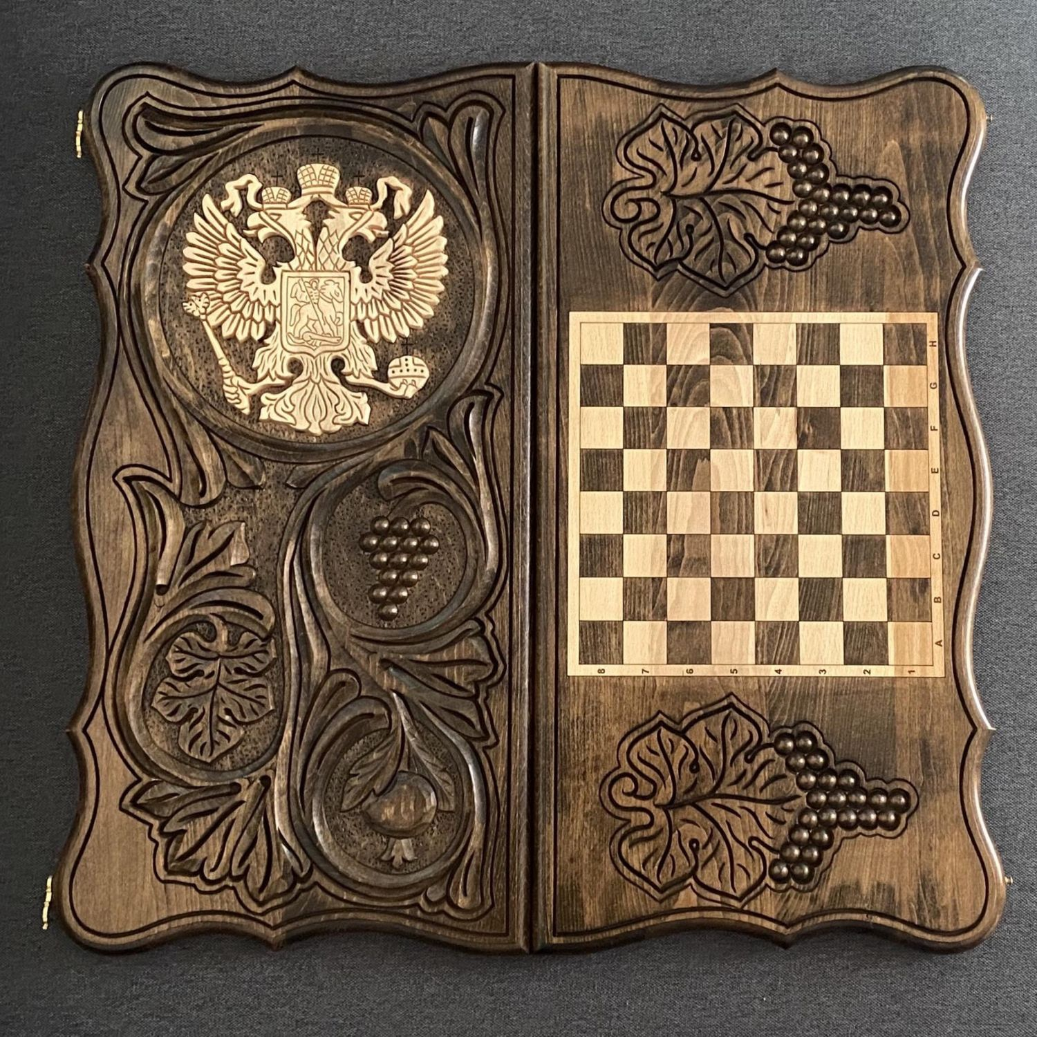 Hand-carved backgammon 'coat of Arms 2' Art. .006, Backgammon and checkers, Moscow,  Фото №1