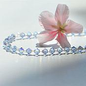 Украшения handmade. Livemaster - original item Sparkling princess bracelet made of Swarovski crystals. Handmade.