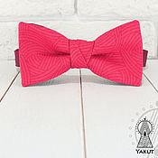 Аксессуары ручной работы. Ярмарка Мастеров - ручная работа Галстук бабочка Aqua ярко - розовый / бабочка-галстук малиновая. Handmade.