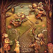 """Картины и панно ручной работы. Ярмарка Мастеров - ручная работа """"Нечаянное торжество..."""" объемная картина. Handmade."""