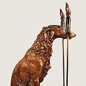 Камины ручной работы. Ярмарка Мастеров - ручная работа Каминные инструменты Собака (каминный набор из бронзы). Handmade.